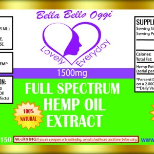 Hemp 1500mg Extract Oil